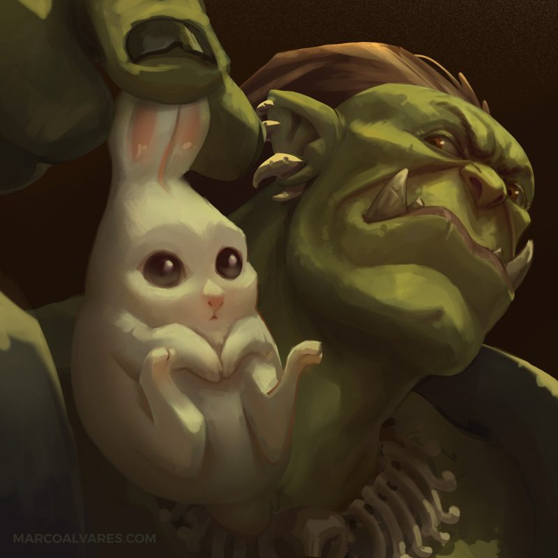 orc and bunny