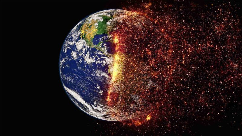 earth climate change burning
