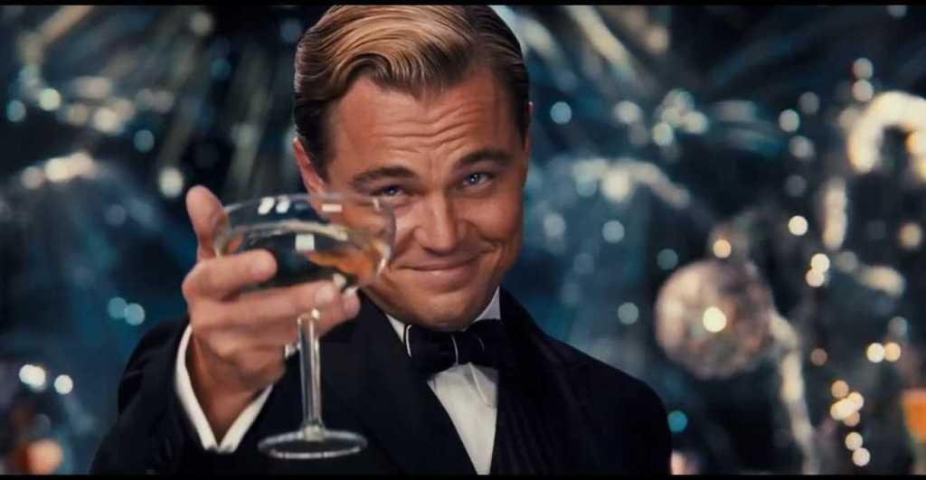 gatsby movie toasting