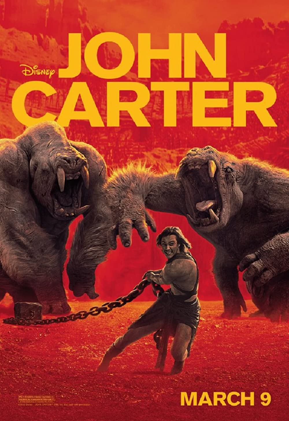 john carter movie poster red