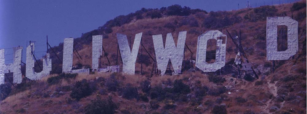 hollywood sign degraded