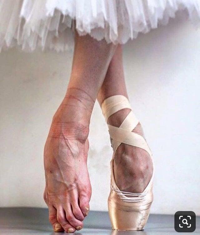 ballet feet slippers en pointe